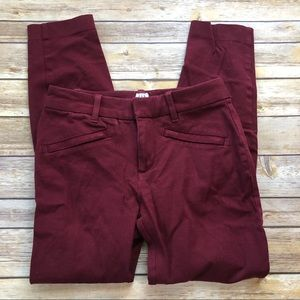 GAP Red Skinny Ankle Jeans Curvy Signature Size 0